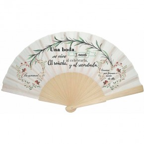 "Abanico ""Amor floral"""