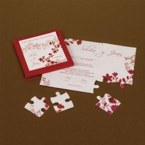 "Caja ""Puzzle flores rojas"""
