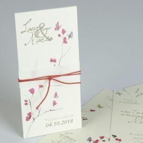 Invitación de boda flores...