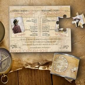 """Lata puzzle """"Serie Viaje Vintage"""""""