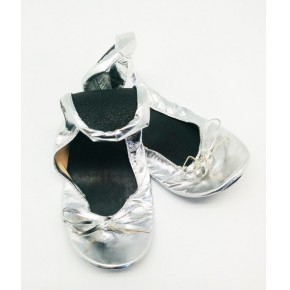 Bailarina enrollables plata