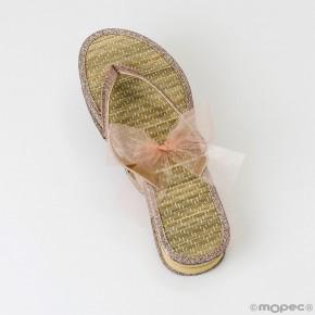 Flip flop bambú adornadas