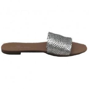 Sandalias trenzadas plata o...