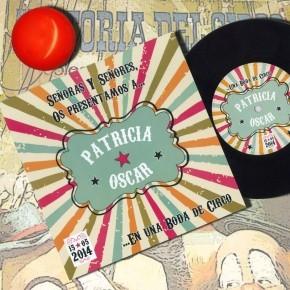 """Disco de vinilo """"Circo retro"""""""