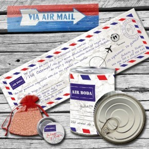 "Lata  tarjetón ""Air Mail"""