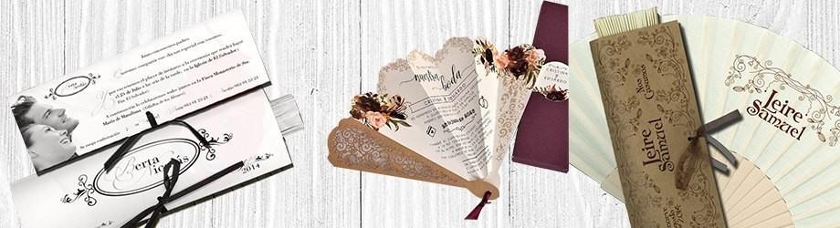 Invitaciones de boda en forma de abanico